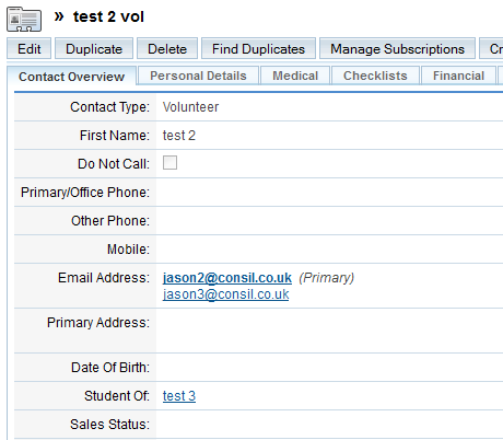 SugarCRM: Importing multiple contact emails - Academe Computing