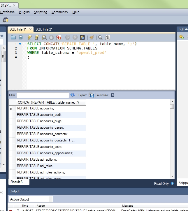 Surprising Mysql Workbench Repairing All Tables In A Database Best Image Libraries Counlowcountryjoecom