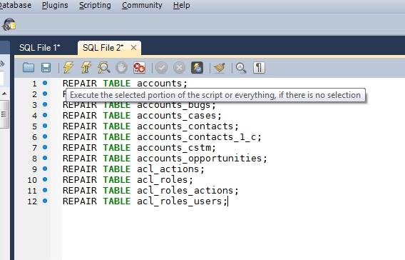 Super Mysql Workbench Repairing All Tables In A Database Best Image Libraries Counlowcountryjoecom